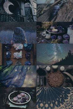 "bluesilvara: "" themooninajar: "" Dark Blue Crystal Witch "" totally my perfect vibe. Thanks @themooninajar "" you're welcome! :D"