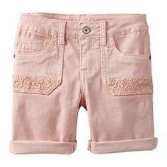 Girls 7-16 & Plus Size Mudd® Crochet Pocket Shorts