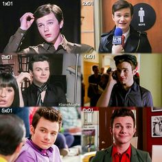 #Glee - Kurt through the seasons.