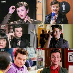 #Glee - Kurt through the seasons.