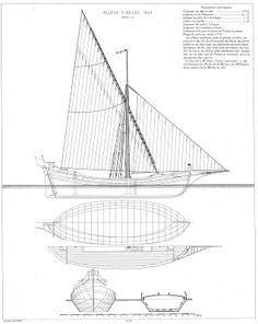 Quinze marins sur le bahut du mort...: Plan d'une allège d'Arles Golden Hind, Boat Stuff, Boat Design, Sailing Ships, Sailing Yachts, Small Boats, Boat Plans, Wooden Boats, Model Ships