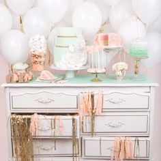 I'm literally considering painting my dresser and using it as a display (using top drawers for plastic-ware, napkins/bottom drawers as book shelves) - I'm pretty sure your mom won't let me take any of her's outside.