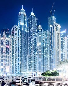 Dubai Marina. Oh my goodness - all that electricity. This is one your wouldn't miss from space