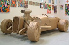 Cardboard sculptures: Chris Gilmour creates art out of corrugated cardboard boxes - Telegraph