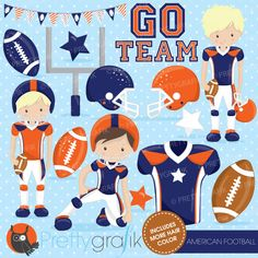 American Football clipart V3