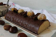 Tronco de castañas al chocolate Pastel Cakes, I Love Chocolate, Fabulous Foods, Cakes And More, Food N, New Recipes, Sweet Tooth, Yummy Food, Sweets