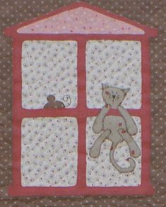 Dollhouse quilt--close up 6--Crankycat