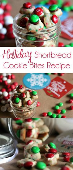 Holiday Shortbread Cookie Bites Recipe | Shortbread Cookies | Christmas Cookies | #ChristmasCookies #ChristmasCookieRecipes #M&Ms