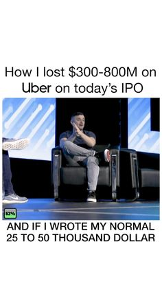 Big day today  #uber #uberipo Thousand Dollars, Gary Vaynerchuk, Entrepreneur Quotes, On Today, Uber, Losing Me, Business, Big Day, Channel