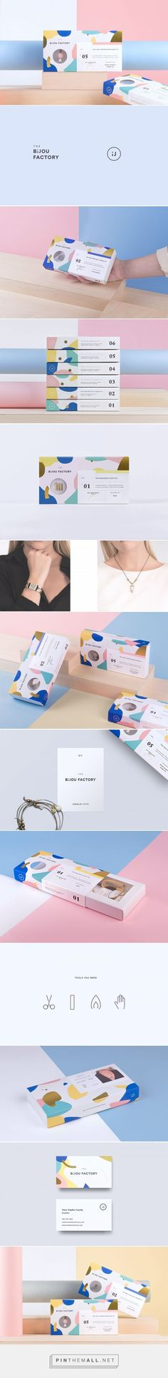 The Bijou Factory DIY Jewelry packaging design by Phoenix The Creative Studio - http://www.packagingoftheworld.com/2017/02/the-bijou-factory.html