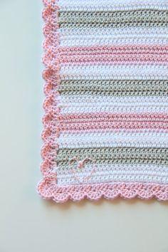 Crochet pattern newborn baby blanket by creJJtion on Etsy