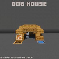 Minecraft Dog House, Minecraft Kitchen Ideas, Modern Minecraft Houses, Minecraft Funny, Amazing Minecraft, Minecraft Tips, Minecraft Blueprints, Minecraft Creations, Minecraft Crafts