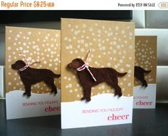 Hey, I found this really awesome Etsy listing at https://www.etsy.com/ca/listing/207773679/on-sale-dog-holiday-cards-set-of-3