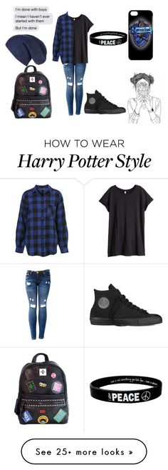 """Ravenclaw"" by luna2015 on Polyvore featuring H&M, Chicnova Fashion and Converse"