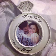 Bling Bling... Love this frame!!! #engagementparty #gift