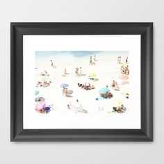 beach Framed Art Print by Ingz - $35.00 bathroom art