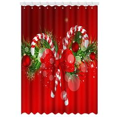 Catch it Christmas Gift Window Curtain Polyester 52x84 1 piece *** Click image for more details.