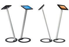 Sprocket Tablet Floor Stands with lockable enclosures