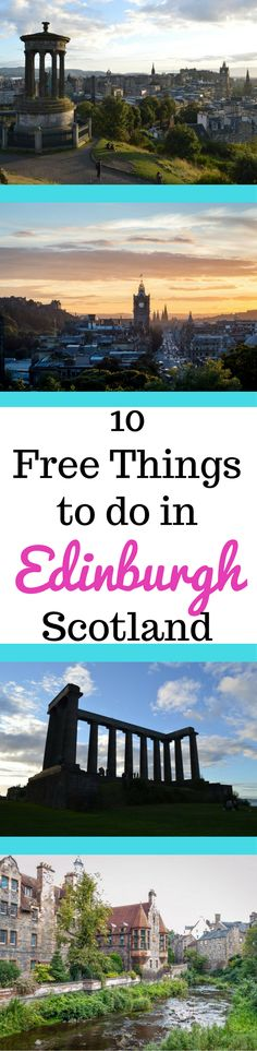 Whisky, haggis, castles, and kilts. Free things to do in Edinburgh, Scotland. Scotland's capital city is awesome.