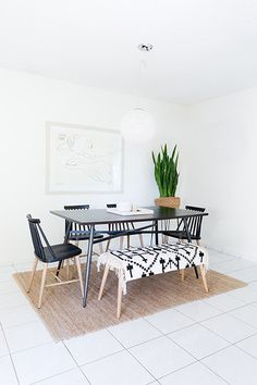 Here& how to achieve an incredible budget makeover. Home Trends, Apartment Dining Room, Interior, Bohemian Dining Room, Home, Dining, Interior D, Fine Dining, Modway Furniture