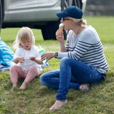 The mommy/daughter duo stopped for a quick ice cream break during the Maserati Royal Charity Polo Trophy Match on June 18, 2016.