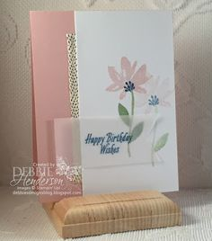 3 new Stampin' Up! Sale-A-Bration products used today: Avant Garden Stamp Set, Carried Away Designer Paper and Metallic Ribbon. Youtube video included. Debbie Henderson, Debbie's Designs. #stampinup #debbiehenderson #debbiesdesigns #avantgarden