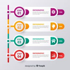 Infographic Vectors, Photos and PSD files Infographic Template Powerpoint, Powerpoint Design Templates, Web Design, Name Card Design, Timeline Design, Background Design Vector, Steps Design, Le Web, Grafik Design