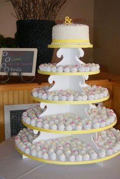 wedding cupcake tower with mini cupcakes