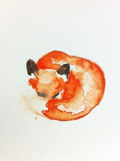 water colour...fox for Shell