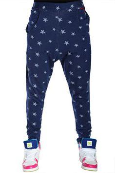 Navy Starz Nappytabs Harem Pants at Threader® Streetwear, Hip Hop Clothing, and Urban Clothing    $59.99