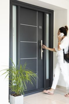 Best Garden Decorations Tips and Tricks You Need to Know - Modern Modern Entrance Door, Main Entrance Door Design, Wooden Front Door Design, Modern Exterior Doors, House Entrance, Modern Front Door, Home Door Design, Door Gate Design, House Gate Design