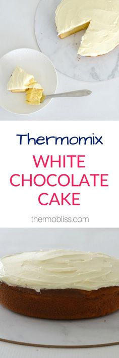 I've been making this Thermomix White Chocolate Cake recipe for years now as it really is such a simple yet delicious cake and it NEVER lasts for long Sweet Recipes, Cake Recipes, Yummy Recipes, Cheddarwurst Recipe, Dessert Thermomix, Mulberry Recipes, Spagetti Recipe, Bellini Recipe, White Chocolate Cake