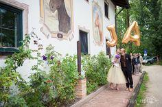 Riesen Buchstaben Luftballons aufhängen und für Bilder verwenden - D A N K E