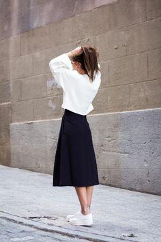 comment porter une jupe longue noire