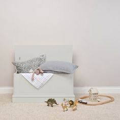 Our Charterhouse children's toy box - taupe is as beautiful as it is practical. Suitable for toys, games, clothes and more this timeless chest features our super safe soft close mechanism. Childrens Bedroom Storage, Playroom Storage, Toy Storage, Blanket Box, Wooden Chest, Panelling, Toy Boxes, Floating Nightstand, Taupe
