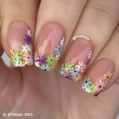 Floral Design by Yagala - Nail Art Gallery nailartgallery.nailsmag.com by Nails Magazine www.nailsmag.com #nailart