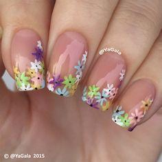 Floral Design  by Yagala - Nail Art Gallery nailartgallery.nailsmag.com by Nails Magazine www.nailsmag.com #nailart