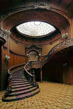 Wonderfully designed Gothic styled stairs