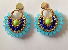 Hand Made Earrings by iliSadovnikAcc on Etsy