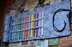 No-Sew Colored Pencil Roll
