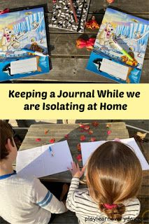 We are writing journals to remember this historical time while we all stay home because of the Coronavirus. Home Learning, Early Learning, Writing Journals, Write Every Day, Keeping A Journal, History Class, Ted Talks, Business For Kids, Educational Activities