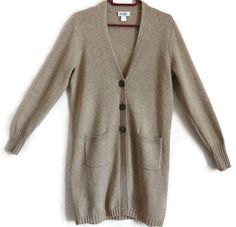 Lambswool Cardigan Light Brown Long Women's Cardigan Buttons Down Neutral Color Warm Women's Clothing V Neck Long Sleeves Cardigan by Vintageby2sisters on Etsy