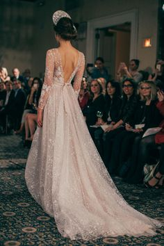 Gorgeous Winter Wedding Gowns we loved that fit for any winter wedding - Try Classic Long Sleeves or Winter wedding gowns in Deeper Shade of White wedding gown Winter Wedding Gowns for Any Winter Wedding That You'll Love Most Beautiful Wedding Dresses, Dream Wedding Dresses, Bridal Dresses, Wedding Gowns, Backless Wedding, October Wedding Dresses, Party Dresses, Fit And Flair, Boho Wedding Dress With Sleeves