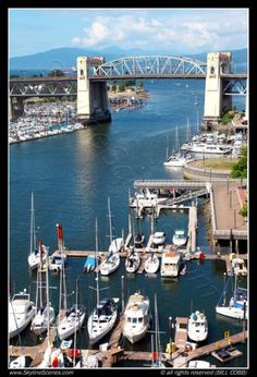 The Burrard Bridge over False Creek, from Granville Island to Downtown Vancouver, British Columbia, Canada;  photo by Bill Cobb