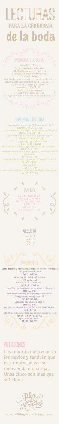 Lecturas para la ceremonia de la boda #bodas #ElBlogdeMaríaJosé #Ceremoniaboda…