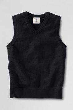 School Uniform Fine Gauge V-neck Sweater Vest from Lands' End