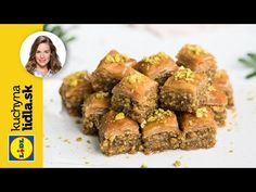 Pistáciová baklava 🥜 | Veronika Bušová | Kuchyňa Lidla - YouTube Lidl, Muffin, Beef, Breakfast, Food, Youtube, Meat, Morning Coffee, Essen