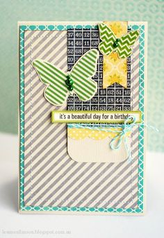 It's A Beautiful Day For A Birthday Card by Leanne Allinson via Jillibean Soup Blog