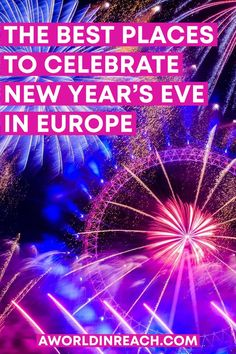 If you want to spend this New Year's Eve somewhere special, consider celebrating in Europe! This guide has all of the best places to celebrate New Year's Eve in Europe so you can decide where to ring in the new year. NYE in Europe / best New Year's Eve trips in Europe / Europe New Year's Eve / Europe winter travel destinations / Where to spend NYE in Europe / Europe travel bucket list / Europe NYE travel / visit Europe in winter / New Year's Eve travel destinations / celebrate NYE abroad