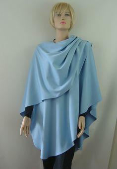 Capes & Ponchos - Cape Poncho Cashmere Sky - ein Designerstück von hofatelier-mode bei DaWanda